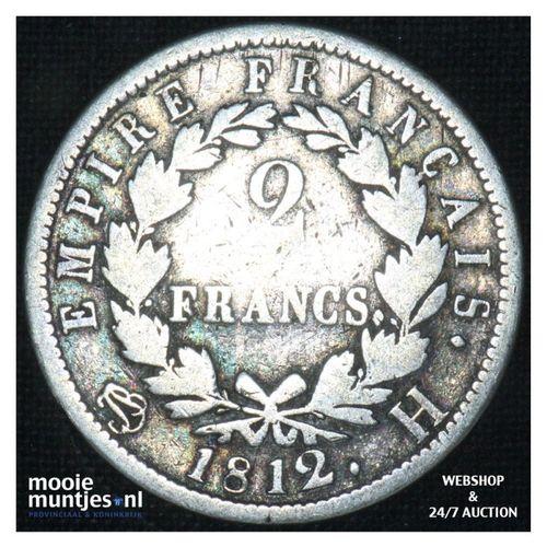 2 francs - France 1812 H (La Rochelle) (KM 693.6) (kant A)