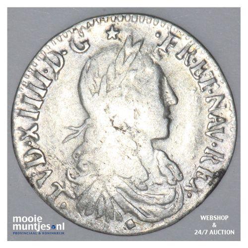 1/12 ecu (10 sols) - France 1662 D (Lyon) (KM 199.3) (kant B)