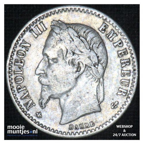 50 centimes - France 1864 A (Paris) (KM 814.1) (kant B)