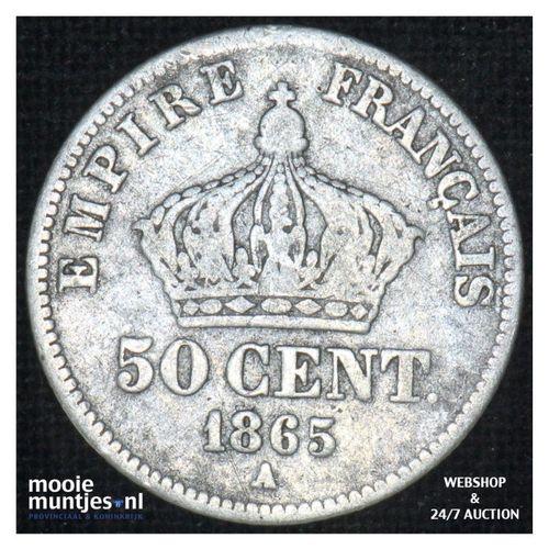 50 centimes - France 1865 A (Paris) (KM 814.1) (kant A)