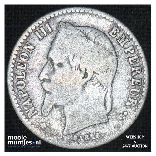 50 centimes - France 1865 A (Paris) (KM 814.1) (kant B)