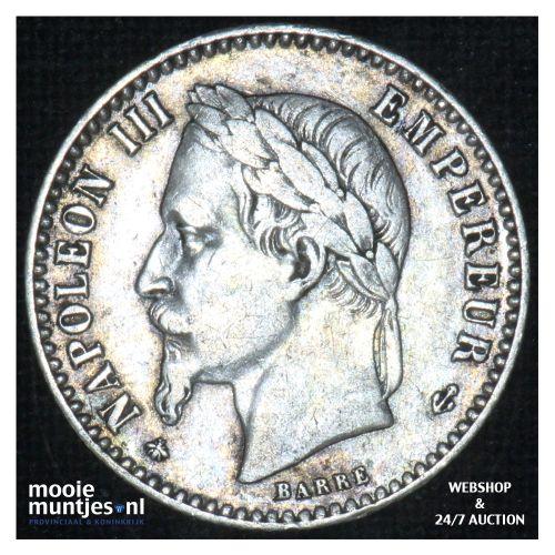 50 centimes - France 1866 A (Paris) (KM 814.1) (kant B)