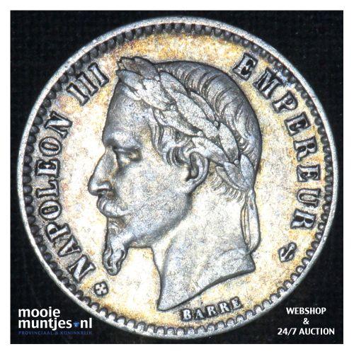 50 centimes - France 1865 BB (Strasbourg) (KM 814.2) (kant B)