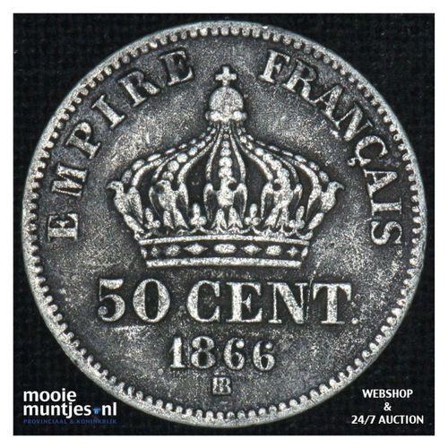 50 centimes - France 1866 BB (Strasbourg) (KM 814.2) (kant A)