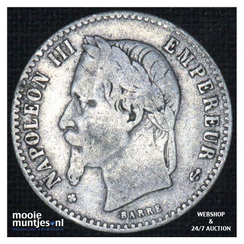 50 centimes - France 1866 BB (Strasbourg) (KM 814.2) (kant B)