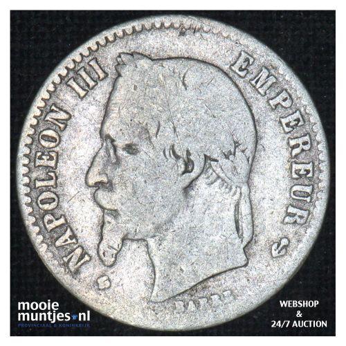50 centimes - France 1867 BB (Strasbourg) (KM 814.2) (kant B)