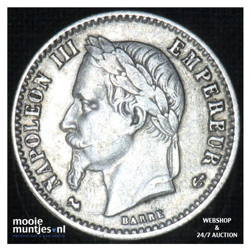 50 centimes - France 1867 K (Bordeaux) (KM 814.3) (kant B)