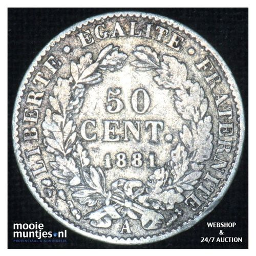 50 centimes - France 1881 A (Paris) (KM 834.1) (kant A)