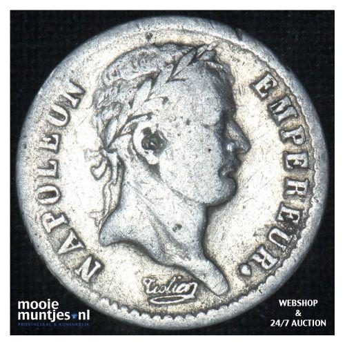 1/2 franc - France 1808 A (Paris) (KM 680.1) (kant B)