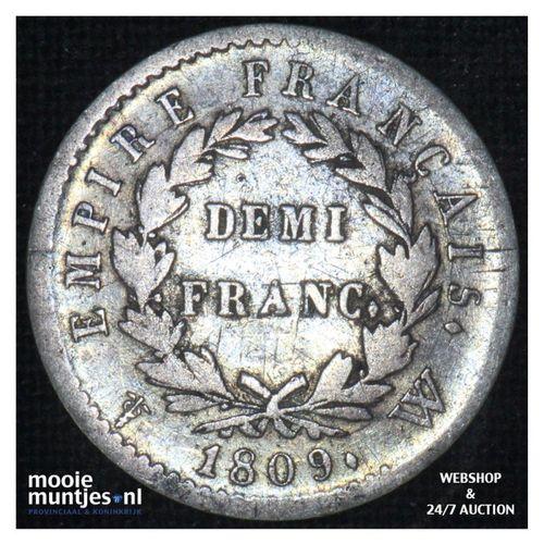1/2 franc - France 1809 W (Lille) (KM 680.3) (kant A)