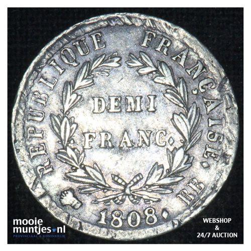 1/2 franc - France 1808 BB (Strasbourg) (KM 680.3) (kant A)
