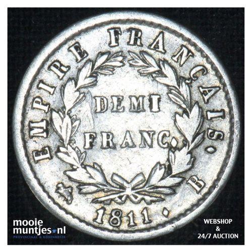 1/2 franc - France 1811 B (Rouen) (KM 691.2) (kant A)