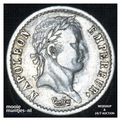 1/2 franc - France 1811 B (Rouen) (KM 691.2) (kant B)