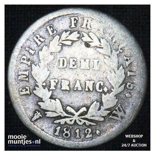 1/2 franc - France 1812 W (Lille) (KM 691.15) (kant A)
