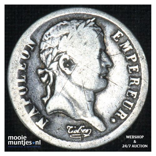 1/2 franc - France 1812 W (Lille) (KM 691.15) (kant B)