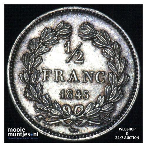 1/2 franc - France 1845 W (Lille) (KM 741.13) (kant A)