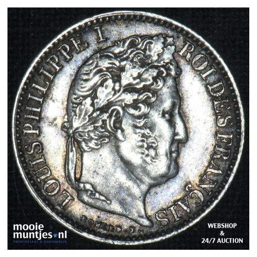 1/2 franc - France 1845 W (Lille) (KM 741.13) (kant B)