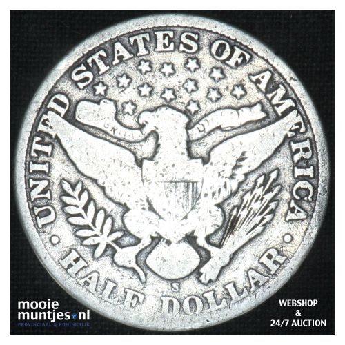 half dollar - barber -  - United States of America 1909 S (KM 116) (kant B)