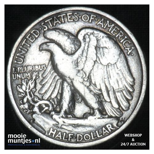 half dollar - walking liberty -  - United States of America 1937 S (KM 142) (kan