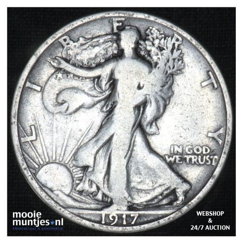 half dollar - walking liberty -  - United States of America 1917 (KM 142) (kant