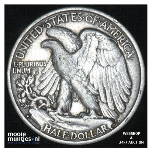 half dollar - walking liberty -  - United States of America 1935 S (KM 142) (kan