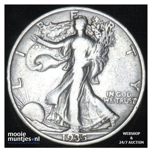 half dollar - walking liberty -  - United States of America 1935 (KM 142) (kant