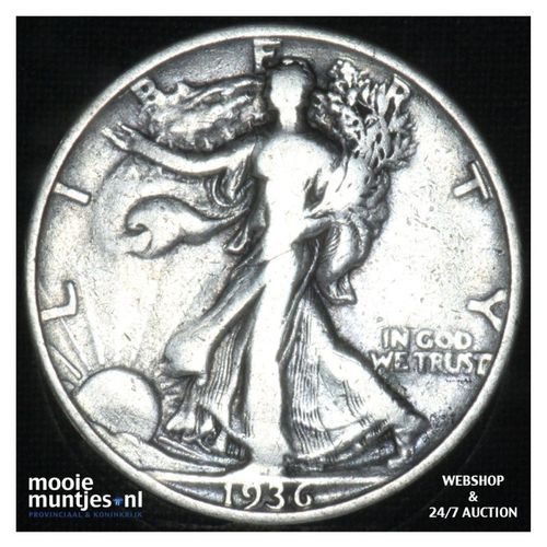 half dollar - walking liberty -  - United States of America 1936 (KM 142) (kant