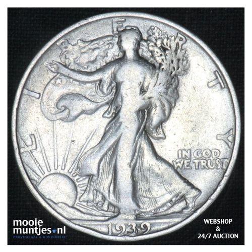 half dollar - walking liberty -  - United States of America 1939 S (KM 142) (kan