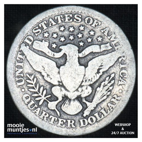 quarter - barber - - United States of America 1912 (KM 114) (kant B)