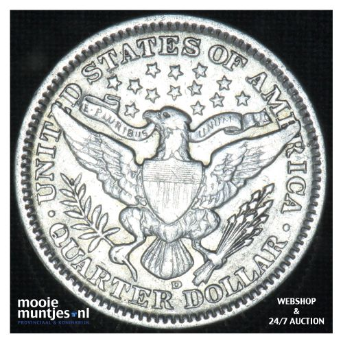 quarter - barber - - United States of America 1909 D (KM 114) (kant B)