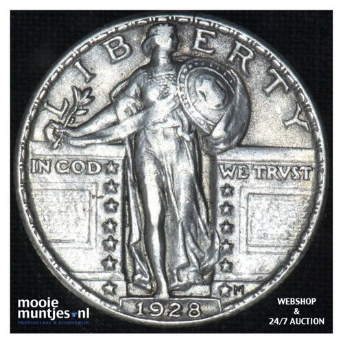quarter - standing liberty - - United States of America 1928 (KM 145) (kant A)