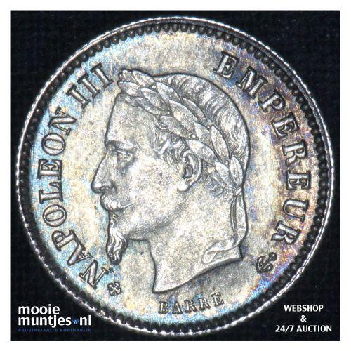 20 centimes - France 1867 BB (Strasbourg) (KM 808.1) (kant B)