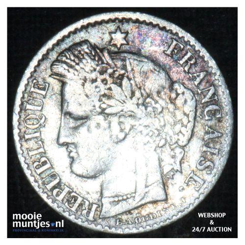 20 centimes - France 1850 A (Paris) (KM 758.1) (kant B)