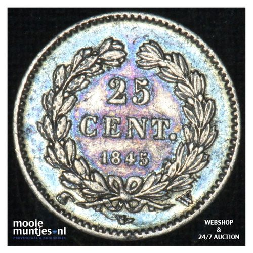 25 centimes - France 1845 W (Lille)  (KM 755.5) (kant A)