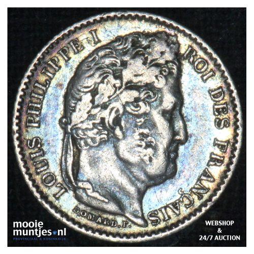 25 centimes - France 1845 W (Lille)  (KM 755.5) (kant B)