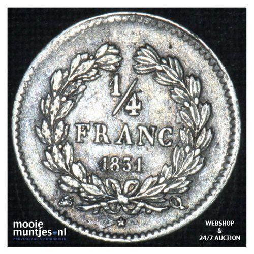 1/4 franc - France 1831 Q (Perpignan) (KM 740.13) (kant A)