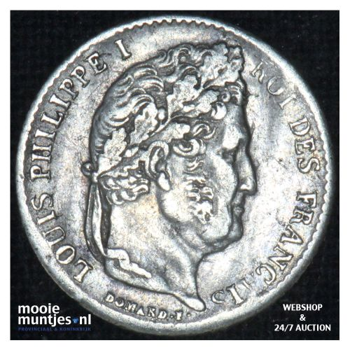 1/4 franc - France 1831 Q (Perpignan) (KM 740.13) (kant B)