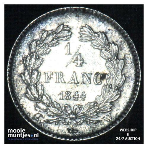1/4 franc - France 1844 W (Lille) (KM 740.13) (kant A)