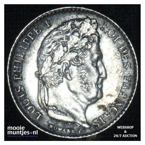 1/4 franc - France 1844 W (Lille) (KM 740.13) (kant B)