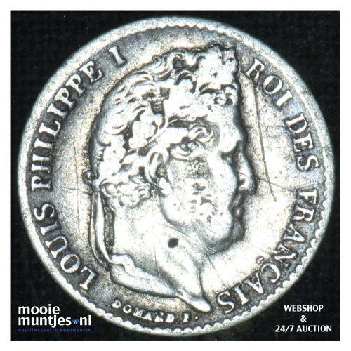 1/4 franc - France 1843 B (Rouen) (KM 740.2) (kant B)