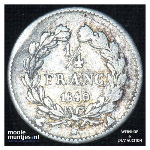 1/4 franc - France 1840 A (Paris) (KM 740.1) (kant A)