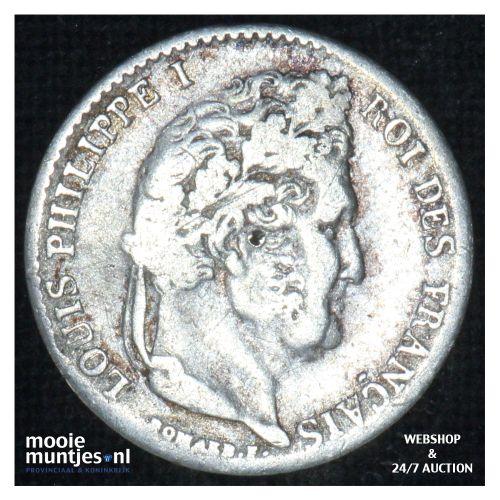 1/4 franc - France 1840 A (Paris) (KM 740.1) (kant B)
