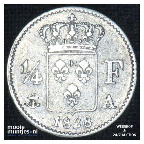 1/4 franc - France 1828 A (Paris) (KM 722.1) (kant A)