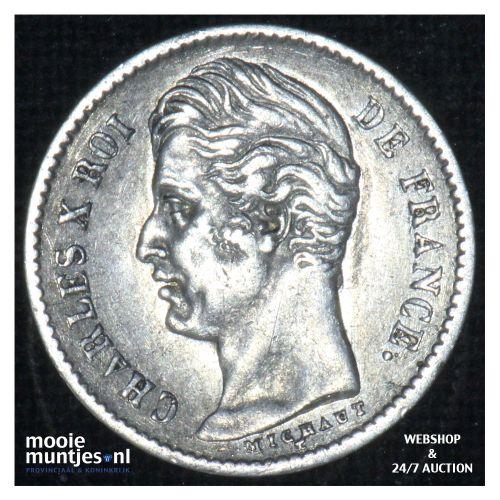 1/4 franc - France 1828 A (Paris) (KM 722.1) (kant B)