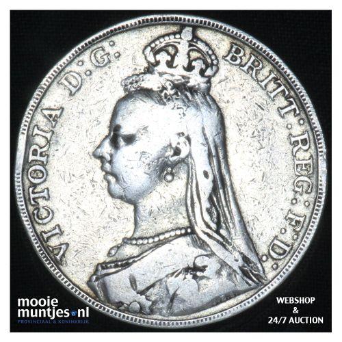 crown - Great Britain 1888 (KM 783) (kant B)