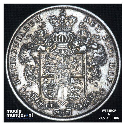 1/2 crown - Great Britain 1825 (KM 695) (kant B)