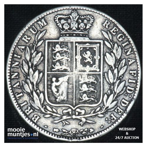 1/2 crown - Great Britain 1878 (KM 756) (kant B)