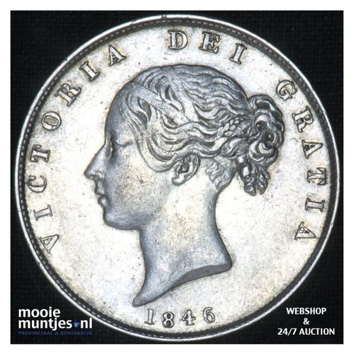 1/2 crown - Great Britain 1846 (KM 740) (kant A)