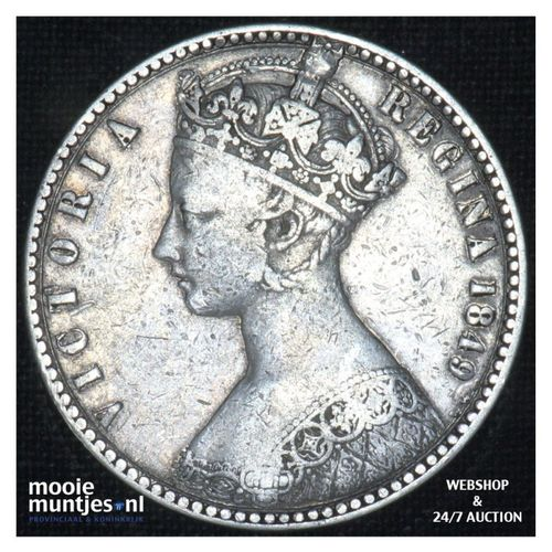 florin (two shillings) - Great Britain 1849  (KM 745) (kant A)