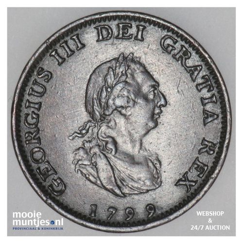 farthing - Great Britain 1799 (KM 646) (kant A)